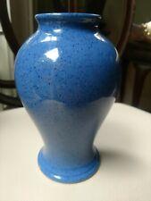 Vintage Moorcroft Blue Speckled Vase, Art Deco Period, Made in England