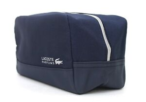 New Lacoste Perfume Dark Blue Wash Organizer Toiletry Bag Xmas Gift for Men
