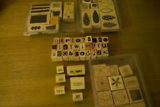 Stampin' Up Lot of 69 Rubber Wooden Stamps Invites Outdoor Assorted Retired