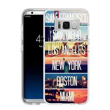 Coque Etui Samsung Galaxy S 8 Plus - Motif Mix USA