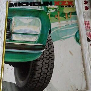 Ancienne Plaque, Tôle, Michelin, Xzx Radial, Automobile, Rare, Année 60