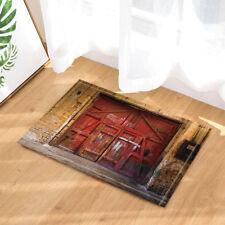 Old Rustic Shabby Red Door Non-Slip Floor Outdoor Indoor Front Door Mat bathroom