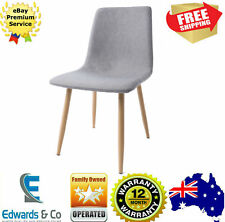 Upholstered Fabric Dining Chair Grey Office Cafe Dinette Room Modern Stool