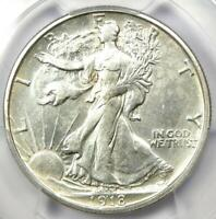 1918-S Walking Liberty Half Dollar 50C - PCGS AU Details - Rare Date Coin!