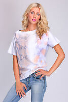 Ladies Loose Fit Top Snake Skin Print Short Sleeve T-Shirt Size 8 - 14 FT2030