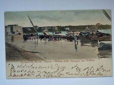 ANZIO veduta spiaggia villini barca vela pescatori Roma vecchia cartolina