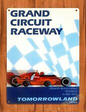 Tin Sign  Disney Grand Circuit Raceway Tokyo Attraction Ride Poster Art Cars