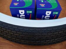 Two(2) Duro 26x2.125 Beach Cruiser Bicycle Tires & 2 tubes Brick White Wall