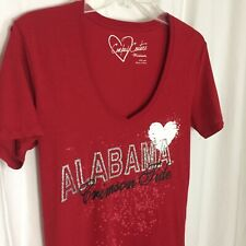 1020026 NCAA Alabama Crimson Tide Medium Women's Shirt Red Short Sleeve M Top