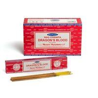 Satya Nag Champa Dragon's Blood Incense Sticks (12 X 15 Gr = 180 Gr)
