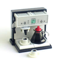 Dollhouse Miniature Kitchen Expresso Coffee Maker Machine with Pot cup Set 1/12