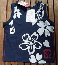 Japanisches Kinder Baby Shirt Jungen Mädchen schwarz weiss Japan Import NEU