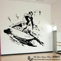 Surfing Boy Wall Stickers Removable Vinyl Wall Decal Home Decor Art Mural Kids