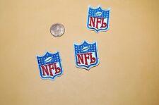 """NFL FOOTBALL 1 1/2"""" Logo Patch Shield 3 PATCH LOT"""