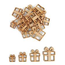 Christmas Gift MDF Craft Shape Wooden Blank Tag Decoration Embellishment Present