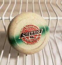 Vintage Yo Yo Tournament Practice Cheerio #99 Wood White Green Rare