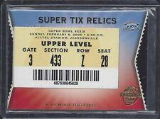 JEREMIAH TROTTER 2005 TOPPS SUPER BOWL TIX XXXIX SUPER BOWL TICKET STUB RELIC #8