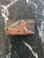 Rare Antique Copper Plate Printing Block Planet Jr Hoe Plow 1890s 1900s Farming