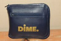 VINTAGE DIME BANK BLUE COIN POUCH AND BAG 2 IN 1 PROMO FEDERAL SAVINGS & LOAN