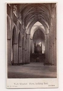 Vintage CDV Nef York Minster Cathédrale York Angleterre G.W.Wilson Ph Aberdeen