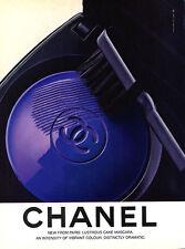 1984 Chanel makeup cake mascara beauty vintage MAGAZINE AD