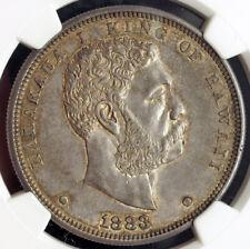 1883, Kingdom of Hawaii, Kalakaua I. Large Silver Dollar Coin. Rare! NGC AU-58!