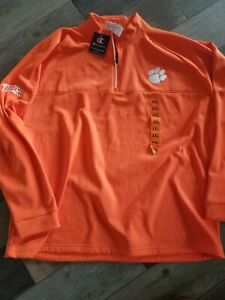 Clemson Tigers 1/4 Zip Pullover Jacket size Men's 2XL nwt Free Ship