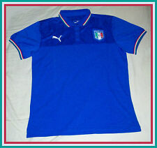 Men's ITALY Team Authentic Soccer Football Polo Shirt