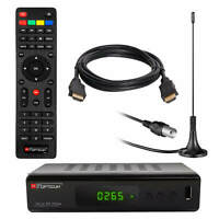 DVB-T2 FULL HD TV Terrestrischer Receiver RED Opticum LAN H.265 HEVC + Antenne