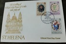 St Helena 1981 Royal Wedding (Charles & Diana) set on official FDC