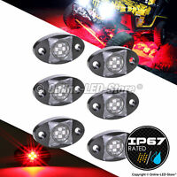 6pc RED LED Rock Lights 4x4 Off Road Rock Crawler - LAMPHUS StarDust SDRL14