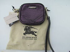 NEW BURBERRY $375 Brindley ITALY dust bag coin purse wristlet wallet key leather