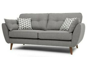 DFS French Connection Zinc 3 Seater sofa Grey