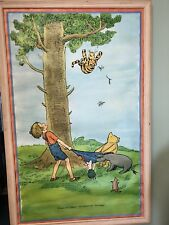 Original Vintage Poster Pooh and Friends   E.P Dalton Company 1975