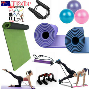 TPE Yoga Mat Ball Rope Friendly Exercise Fitness Gym Pilates Non Slip Dual Layer