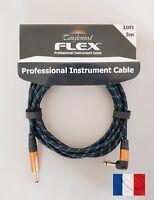 Câble d'instrument professionnel coudé, Tanglewood FLEX FX3BB-A 3m