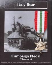 Italy Star, Minature British War Medal
