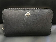 Tory Burch Robinson Zip Continental Wallet BLACK 11169071 Retail $225 NWT