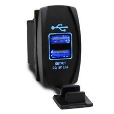 Dual USB Power Adapter Outlet Car Cigarette Lighter Socket Splitter Charger 12V