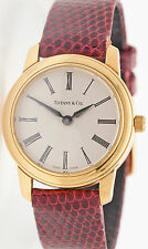 New $6000 Tiffany & Co 18k Yellow Gold Ladies DRESS Watch & Papers