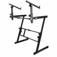 On Stage Stands - KS7365EJ Folding-Z Keyboard Stand with 2nd Tier