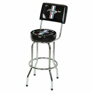 Ford Mustang Bar Stool w/Backrest - Get One or Full Set! Free 48 State Shipping!