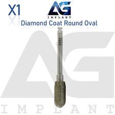 Diamond Round Oval Ø5.0mm Bone Shaping Cutting Tool Surgical Dental Implant