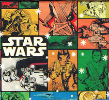 Folded Disney Star Wars The Force Awakens Christmas Wrapping Paper 20 sq ft