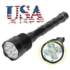 Tactical 100000 Lumen 5x T6 LED Flashlight 18650 5-Modes Lamp Torch Police Light