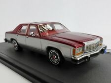 Ford LTD Crown Victoria SILVER/RED 1986 Sedan 1/43 Matrix mx20603-402 MX 20603
