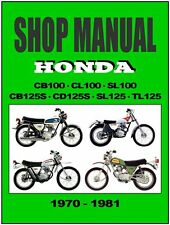 honda cb100 cb125 cl100 sl100 cd125 sl125 workshop repair manual download