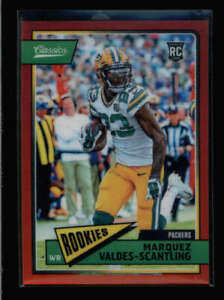 MARQUEZ VALDES-SCANTLING 2018 PANINI HONORS #317 CHROME RED ROOKIE #10/15 AZ7225