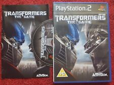 TRANSFORMERS THE GAME ORIGINAL BLACK LABEL SONY PLAYSTATION 2 PS2 PAL