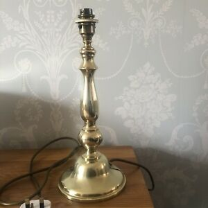 Vintage Brass Table Lamp Quality Brassware Made In England